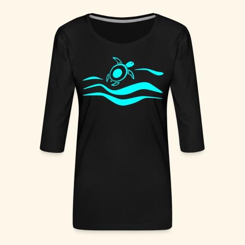Mehr Schildis gibt es nur im Meer :) - Frauen Premium 3/4-Arm Shirt