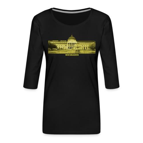 Wiesbaden Landeshauptstadt Hessen Kurhaus Casino - Frauen Premium 3/4-Arm Shirt