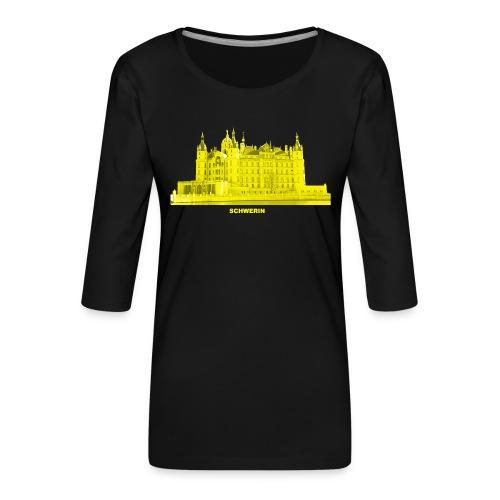Schwerin Schloss Mecklenburg Vorpmmern - Frauen Premium 3/4-Arm Shirt