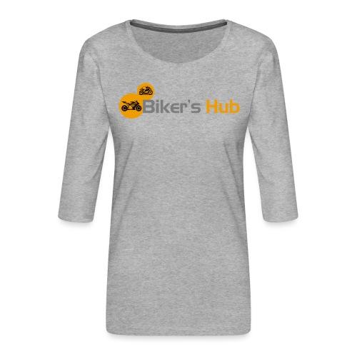 Biker's Hub Logo - Women's Premium 3/4-Sleeve T-Shirt