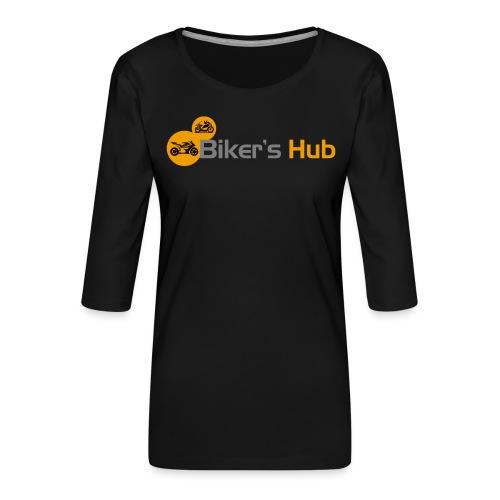 Biker's Hub Small Logo - Women's Premium 3/4-Sleeve T-Shirt