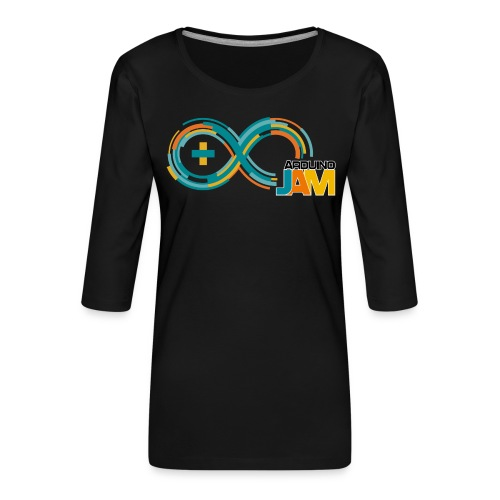 T-shirt Arduino-Jam logo - Women's Premium 3/4-Sleeve T-Shirt