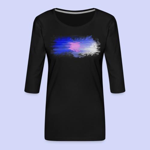 Blue lights - Female shirt - Dame Premium shirt med 3/4-ærmer
