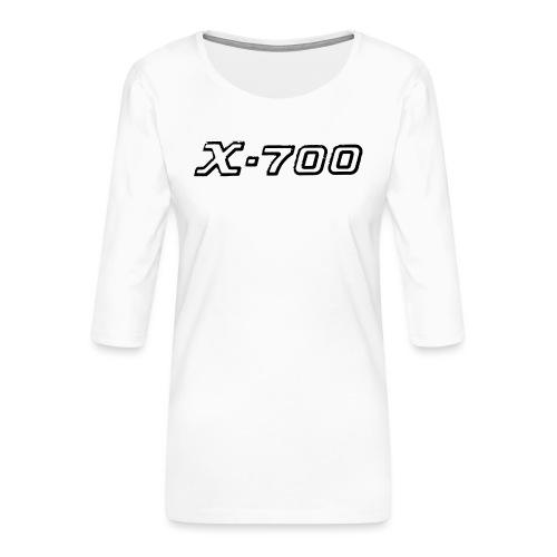 Minolta X-700 White - Maglietta da donna premium con manica a 3/4