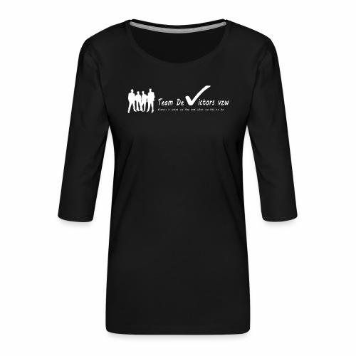 TDV - Vrouwen premium shirt 3/4-mouw
