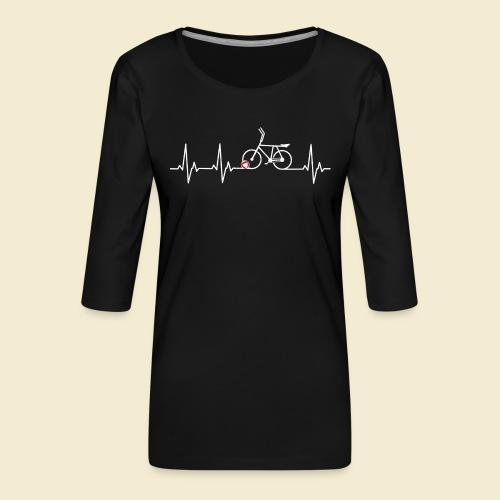 Radball | Heart Monitor White - Frauen Premium 3/4-Arm Shirt