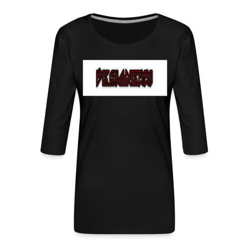 designerri - Premium-T-shirt med 3/4-ärm dam