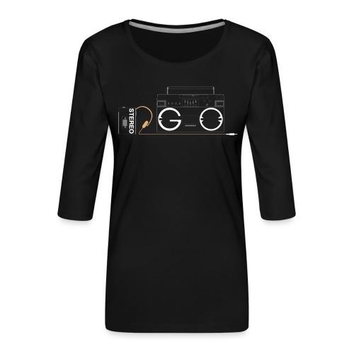 Design S2G new logo - Women's Premium 3/4-Sleeve T-Shirt