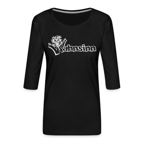 Wahnsinn Logo - Vrouwen premium shirt 3/4-mouw