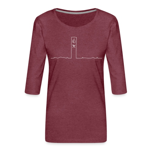 pikkuskyline_white - Naisten premium 3/4-hihainen paita