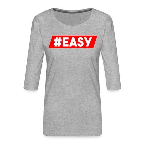 #EASY Classic Logo Snapback - Maglietta da donna premium con manica a 3/4