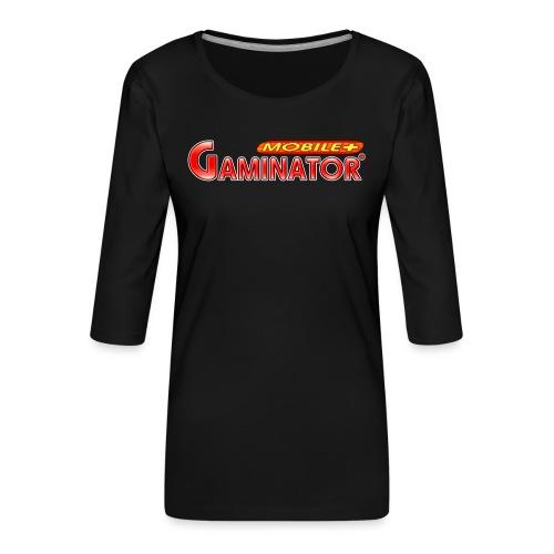 Gaminator logo - Women's Premium 3/4-Sleeve T-Shirt