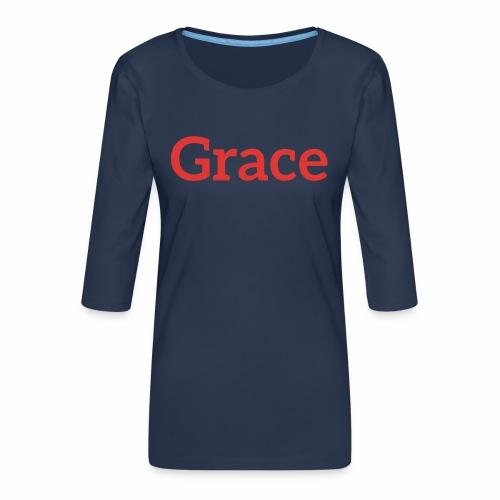 grace - Women's Premium 3/4-Sleeve T-Shirt
