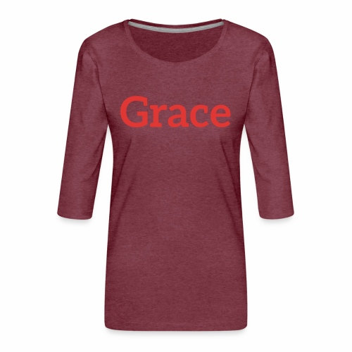 grace - Women's Premium 3/4-Sleeve T-Shirt