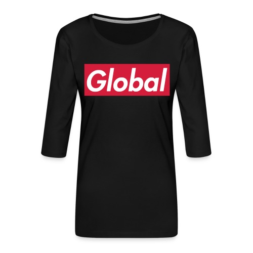 Global - Frauen Premium 3/4-Arm Shirt