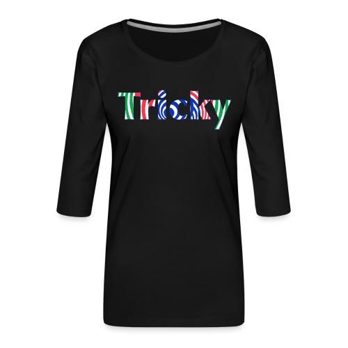 Tricky - Women's Premium 3/4-Sleeve T-Shirt
