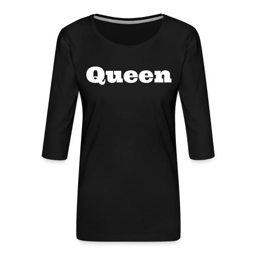 Snapback queen zwart/grijs - Vrouwen premium shirt 3/4-mouw