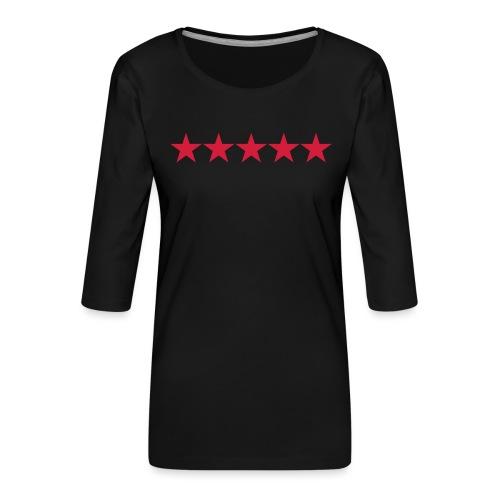Rating stars - Naisten premium 3/4-hihainen paita