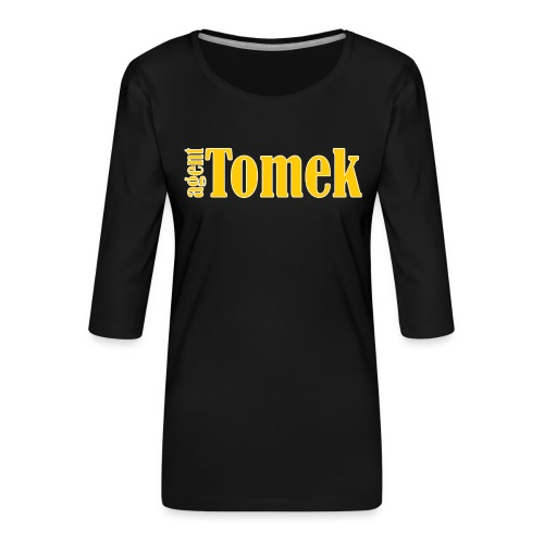 agent tomek YELLOW - Koszulka damska Premium z rękawem 3/4