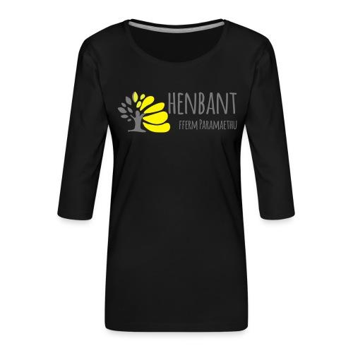 henbant logo - Women's Premium 3/4-Sleeve T-Shirt