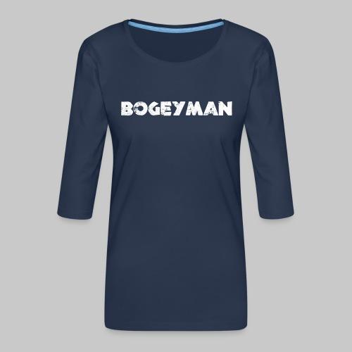 valkoinen - Naisten premium 3/4-hihainen paita
