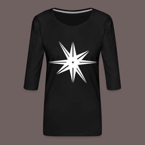 GBIGBO zjebeezjeboo - Rock - Octa Star Blanc - T-shirt Premium manches 3/4 Femme