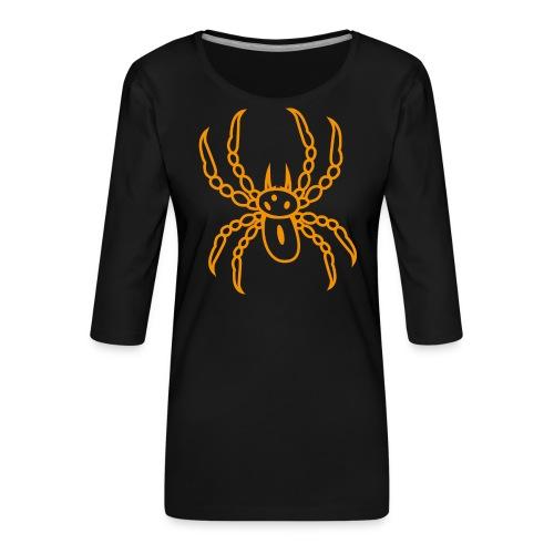 Spinne orange - Frauen Premium 3/4-Arm Shirt