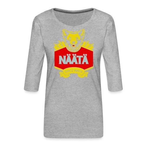 Näätä - Naisten premium 3/4-hihainen paita