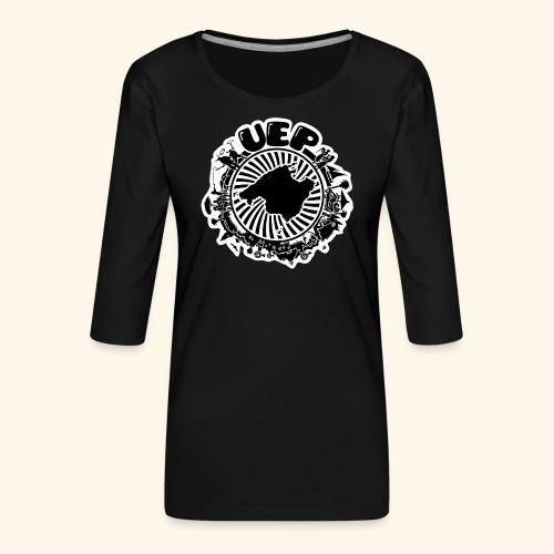 UEP white background - Women's Premium 3/4-Sleeve T-Shirt