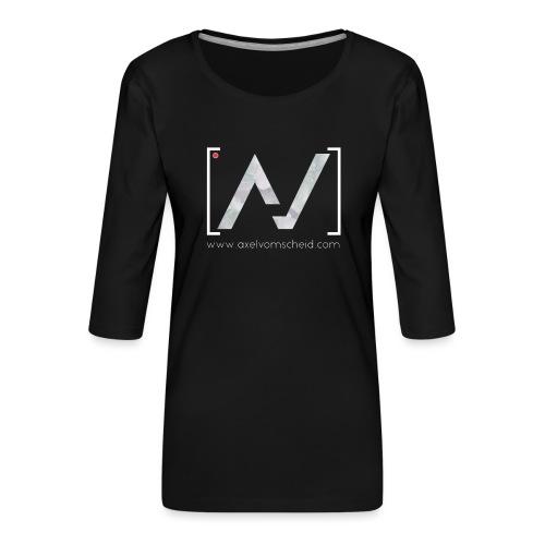 logoalpha blanc - T-shirt Premium manches 3/4 Femme