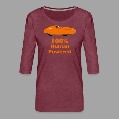 100% human powered - Naisten premium 3/4-hihainen paita