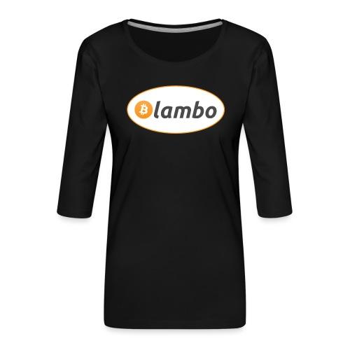 Lambo - option 1 - Women's Premium 3/4-Sleeve T-Shirt