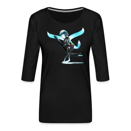 Huion Character O.C. - Maglietta da donna premium con manica a 3/4
