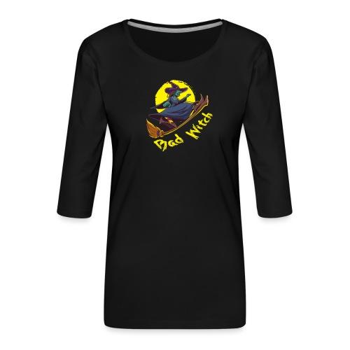 Bad Witch Outfit für Hexen im Kessel brauen - Frauen Premium 3/4-Arm Shirt