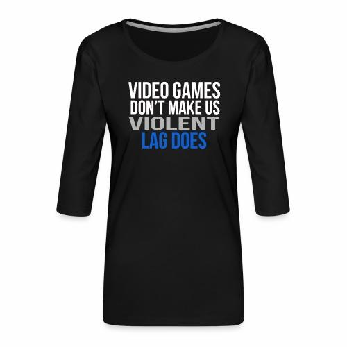 Video games - Naisten premium 3/4-hihainen paita