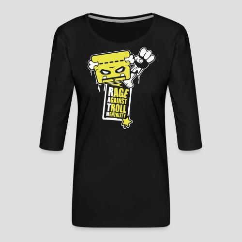 Rage against Trolls - T-shirt Premium manches 3/4 Femme