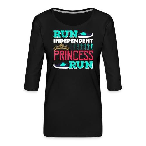 RUN INDEPENDENT PRINCESS RUN - Frauen Premium 3/4-Arm Shirt