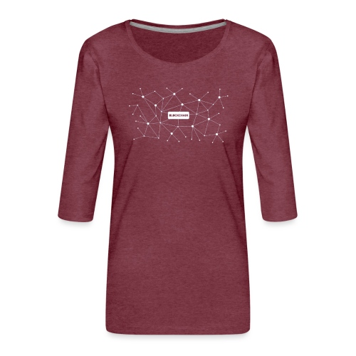 Blockchain - Frauen Premium 3/4-Arm Shirt