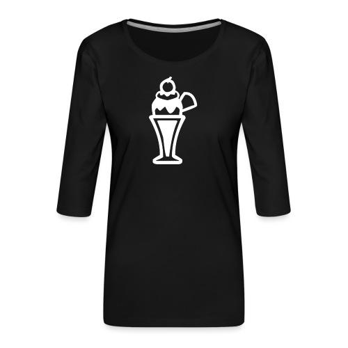 Eis und Eiscreme Symbol - Frauen Premium 3/4-Arm Shirt