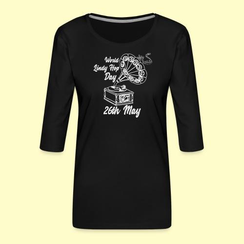 Lindy Hop Day Swing Dancing Vintage Geschenk - Frauen Premium 3/4-Arm Shirt