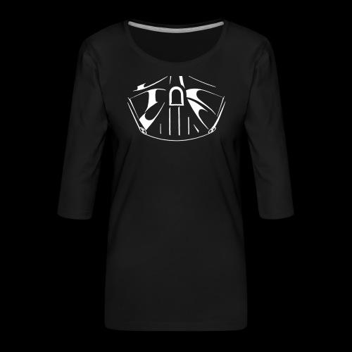 el lado oscuro de la fuerza - Camiseta premium de manga 3/4 para mujer