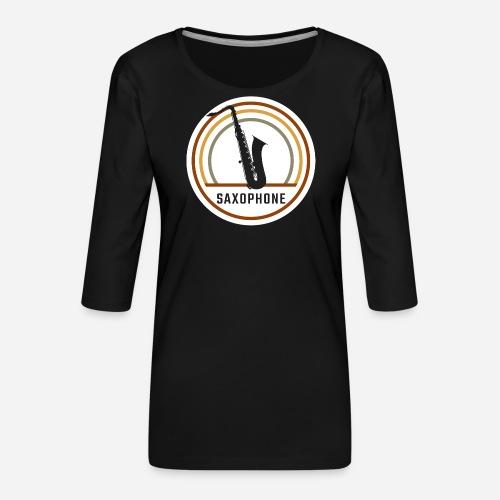 Saxophone Circle Retro - Frauen Premium 3/4-Arm Shirt