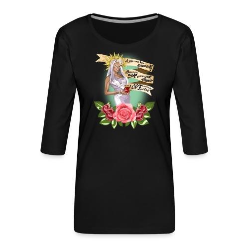 Mama RuPaul - Camiseta premium de manga 3/4 para mujer