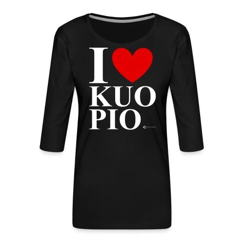 I LOVE KUOPIO ORIGINAL (valkoinen) - Naisten premium 3/4-hihainen paita