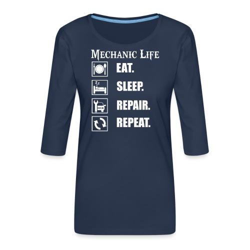 Das Leben als Mechaniker ist hart! Witziges Design - Frauen Premium 3/4-Arm Shirt