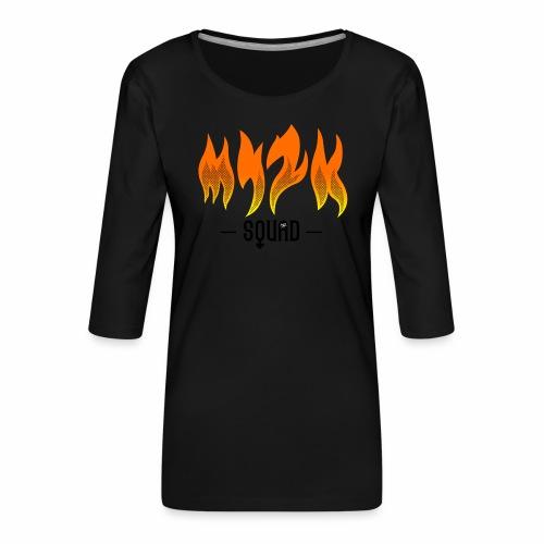MY2K Squad Feu - T-shirt Premium manches 3/4 Femme