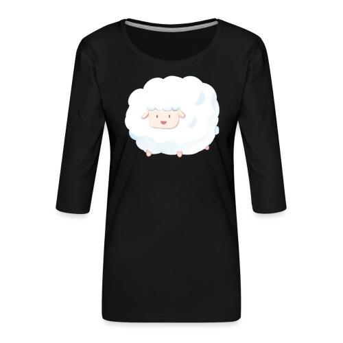 Sheep - Maglietta da donna premium con manica a 3/4