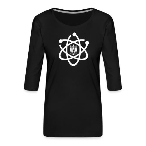 March for Science København logo - Women's Premium 3/4-Sleeve T-Shirt