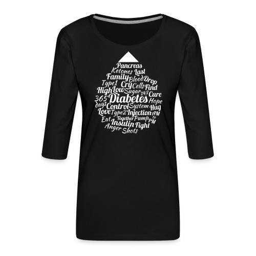CURE DIABETES - Women's Premium 3/4-Sleeve T-Shirt