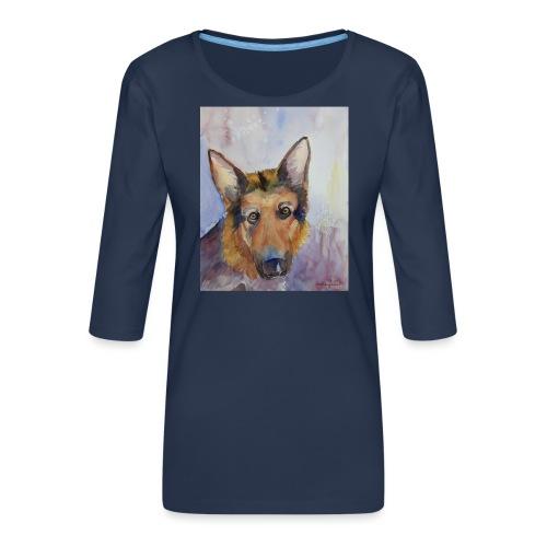 german shepherd wc - Dame Premium shirt med 3/4-ærmer